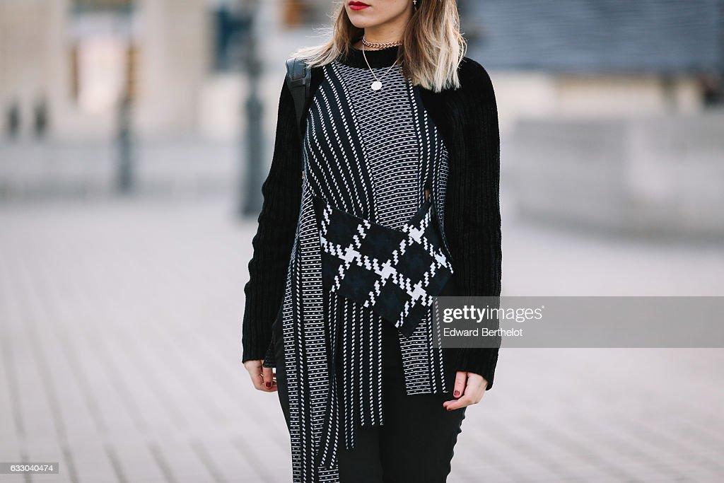 044aa4558cd1 Amelie Lloyd wears & Other Stories black pants, a Phillip Lim black ...