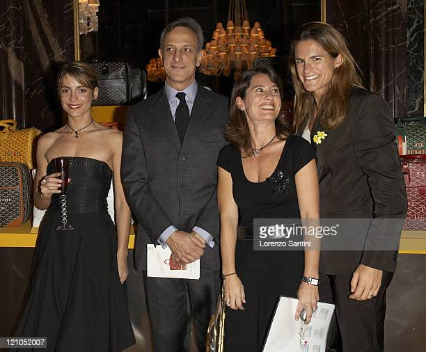 Amelie Mauresmo and guests during Auction of Goyard Handbags Designed by Celebrities for the 'Institut Curie' November 28 2006 at Baccarat House in...