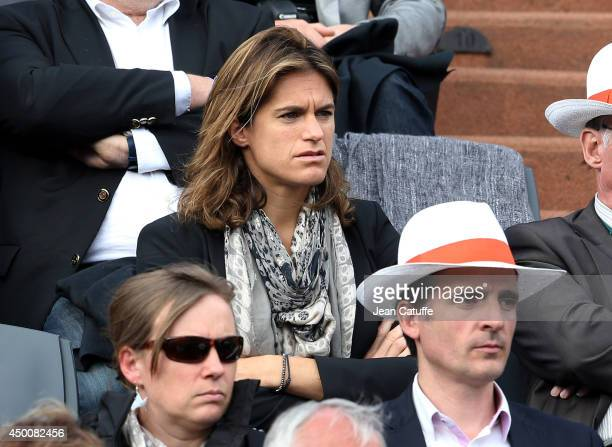 Amelie Mauresmo attends Day 11 of the French Open 2014 held at RolandGarros stadium on June 4 2014 in Paris France