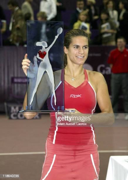 Amelie Mauresmo defeated French compatriot Mary Pierce 61 76 to win the Gaz de France on February 12 2006