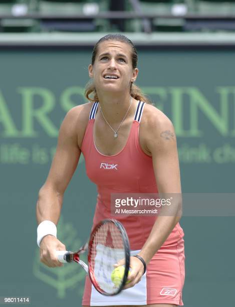 Amelie Mauresmo in women's doubles semi-final at the 2006 NASDAQ 100 Open at Key Biscayne, Florida. Lisa Ramond and Samantha Stosur defeated Mauresmo...