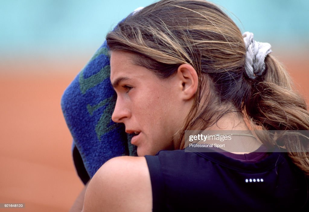 Amelie Mauresmo of France during the French Open Tennis Championships at the Stade Roland Garros circa May 1999 in Paris, France.