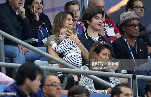 Amelie Mauresmo Yannick Noah attend the UEFA Euro 2016 quarter final match between France and Iceland at Stade de France on July 3 2016 in SaintDenis...
