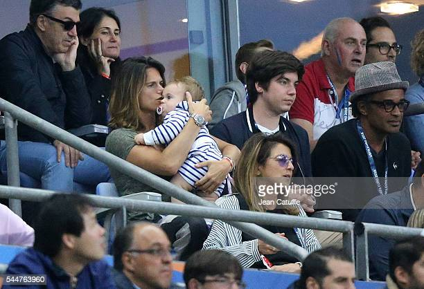 Amelie Mauresmo Yannick Noah attend the UEFA Euro 2016 quarter final match between France and Iceland at Stade de France on July 3 2016 in SaintDenis...