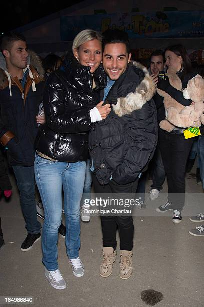 Amelie Neten and Alban Bartolli attend the 50th Foire du Trone Opening Night at Pelouse De Reuilly on March 29 2013 in Paris France