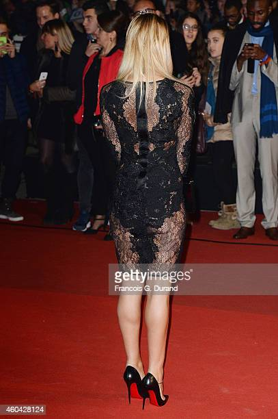 Amelie Neten arrives at the 16th NRJ Music Awards at Palais des Festivals on December 13 2014 in Cannes France