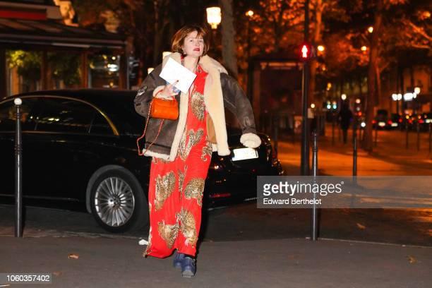Amelie Pichard attends the Vogue Fashion Festival 2018 at Hotel Potocki on November 9 2018 in Paris France