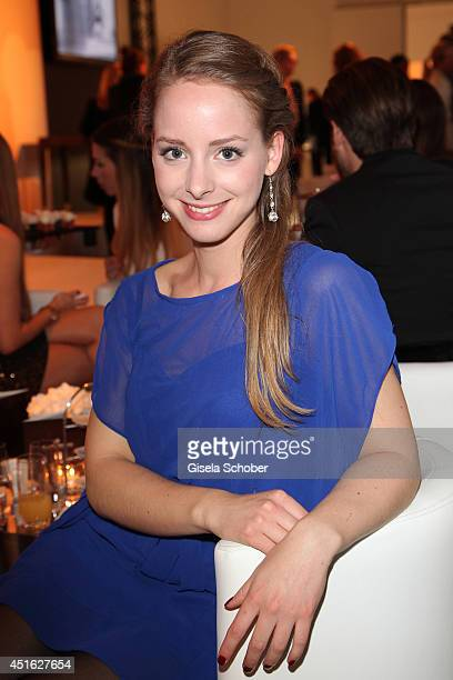Amelie Plaas Link attends the presentation of the Baume Mercier 'Promesse' Ladies Collection at Haus der Kunst on July 2 2014 in Munich Germany
