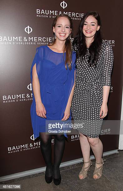Amelie Plaas Link Maria Ehrich attends the presentation of the Baume Mercier 'Promesse' Ladies Collection at Haus der Kunst on July 2 2014 in Munich...
