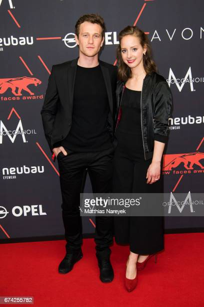 Amelie PlaasLink and Jonathan Berlin attend the New Faces Award Film at Haus Ungarn on April 27 2017 in Berlin Germany