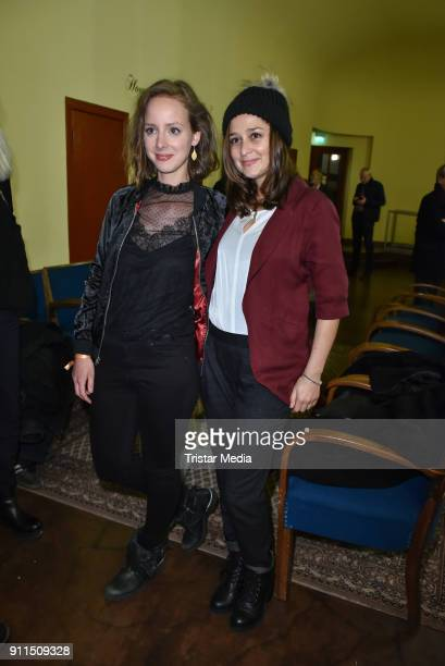 Amelie PlaasLink and Sarah Alles during the 60 anniversary of Ernst Lubitsch Award on January 28 2018 in Berlin Germany