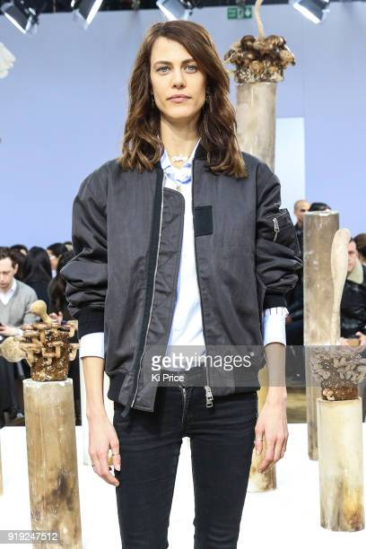 Amelie Valade attends the JW Anderson show during London Fashion Week February 2018 at Yeomanry House on February 17 2018 in London England