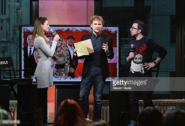 Amelie van Tass and Thommy Ten of The Clairvoyants perform on stage at AOL BUILD at AOL HQ on December 16 2016 in New York City