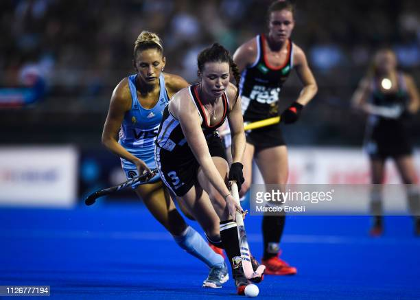 Amelie Wortmann of Germany in action during the Women's FIH Field Hockey Pro League match between Argentina and Germany at CeNARD on February 22 2019...