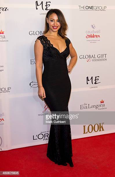 Amelle Berrabah attends the London Global Gift Gala at ME Hotel on November 19 2013 in London England