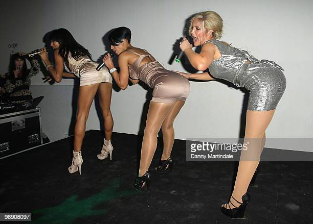Amelle Berrabah Jade EwenHeidi Range from the Sugarbabes sing at the afterparty for the JMaskrey show for London Fashion Week Autumn/Winter 2010 at...