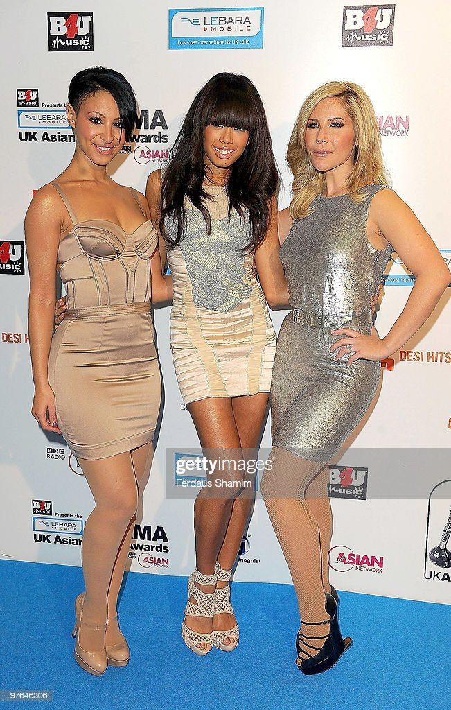 Amelle Berrabah, Jade-Ewen and Heidi Range of Sugababes attends the Lebara Mobile Asian Music Awards at the Royal Festival Hall on March 11, 2010 in London, England.