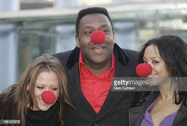 Amelle Berrabah Lenny Henry Kimberley Walsh Attend The Comic Relief 2007 Press Launch At The London Eye