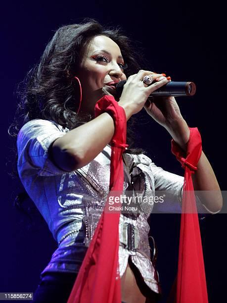 Amelle Berrabah of Sugababes at Wembley Arena during Sugababes in Concert at Wembley April 13 2007 in London United Kingdom