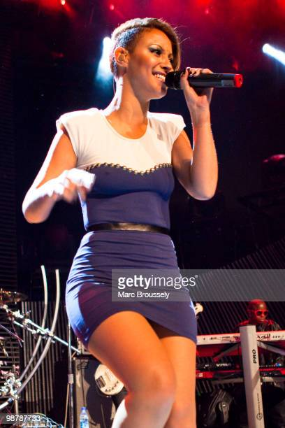 Amelle Berrabah of Sugababes performs at The Roundhouse during day one of The Camden Crawl on May 1 2010 in London England