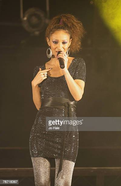 Amelle Berrabah of Sugababes performs on stage at the GAY 15th Anniversary At The London Astoria on December 012007 in LondonEngland