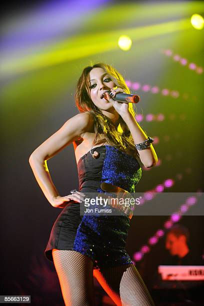 ACCESS *** Amelle Berrabah of Sugababes performs on stage during the Capital FM Jingle Bell Ball held at the 02 Arena in Docklands on December 10...
