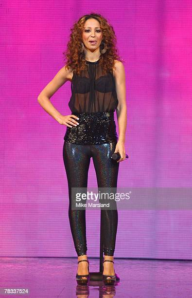 Amelle Berrabah of the Sugababes performs on day 2 of the Clothes Show Live at the NEC, Birmingham on December 08, 2007 in Birmingham, United Kingdom.