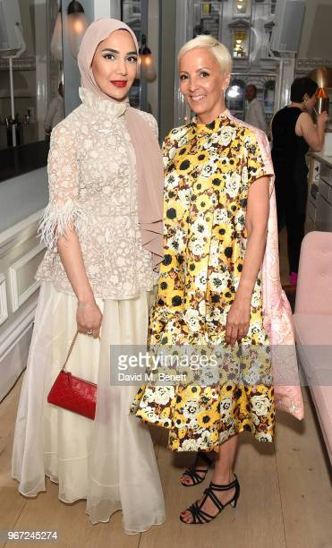 Amena Khan and to AnneMarie Curtis attend THE ELLE LIST 2018 in association with THEOUTNETCOM at Spring at Somerset House on June 4 2018 in London...