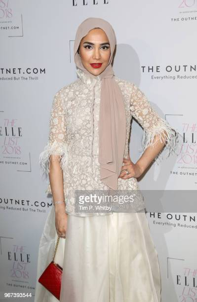 Amena Khan attends The ELLE List 2018 at Somerset House on June 4 2018 in London England