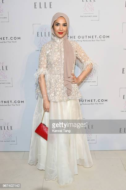 Amena Khan attends The ELLE List 2018 at Spring at Somerset House on June 4 2018 in London England