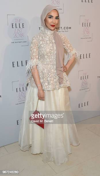 Amena Khan attends THE ELLE LIST 2018 in association with THEOUTNETCOM at Spring at Somerset House on June 4 2018 in London England