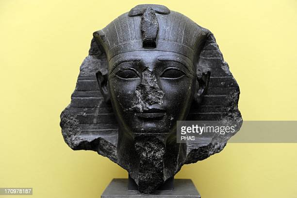 Amenhotep II or Amenophis II Seventh Pharaoh of the 18th dynasty of Egypt His reign is usually dated from 1427 to 1401 BC New Kingdom Bust Diorite C...