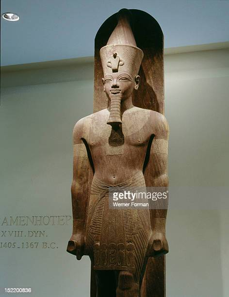 Amenhotep III the dazzling Aten During his reign the king presented offerings to a statue of himself as a manifestation of the sun god This statue...