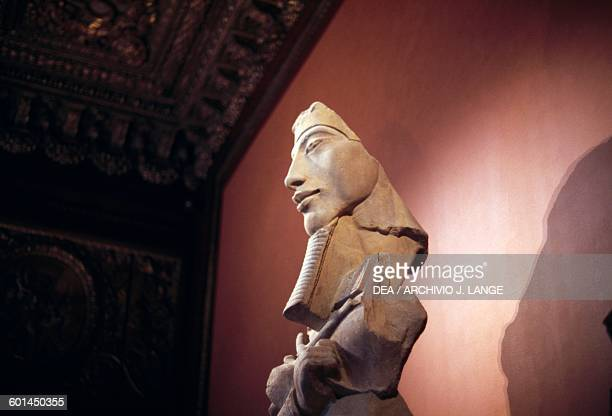 Amenophis IVAkhenaten ca 1350 BC from a building constructed near the Temple of Amon at Karnak Egypt Egyptian civilisation 14th century BC Paris...