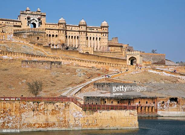 Amer Fort / Amber Fort palace in red sandstone at Amer near Jaipur Rajasthan India