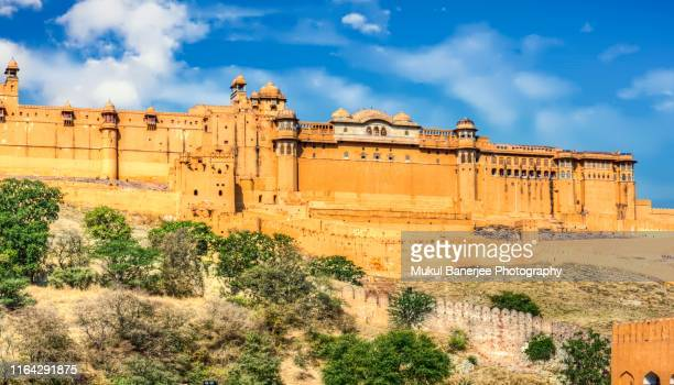amer fort or amber fort in amer near jaipur, rajasthan state, india - amber fort stock pictures, royalty-free photos & images