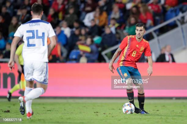 Amer Gojak of Bosnia and Herzegovina Dani Ceballos of Spain during the UEFA Nations league match between Spain v Bosnia and Herzegovina at the...