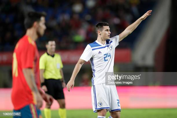 Amer Gojak of Bosnia and Herzegovina during the UEFA Nations league match between Spain v Bosnia and Herzegovina at the Estadio de Gran Canaria on...