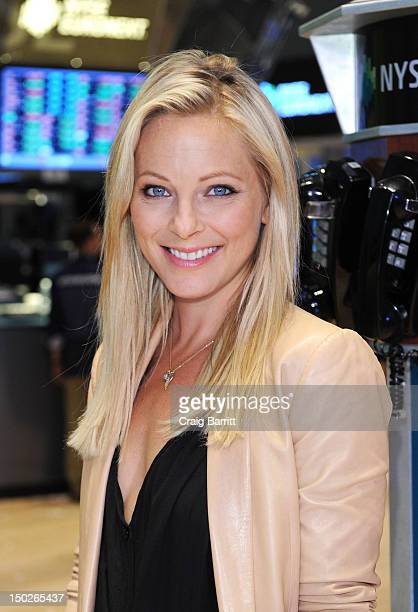 Amercia's 'Copper' Cast member Anastasia Griffith visits The New York Stock Exchange at New York Stock Exchange on August 13 2012 in New York City