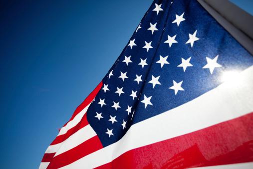 Amereican Flag display commemorating national holiday 149478144
