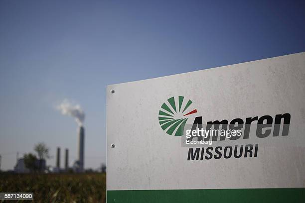 Ameren Corp signage is displayed outside the company's Sioux Power Station power plant in West Alton Missouri US on Thursday Aug 4 2016 Ameren's...