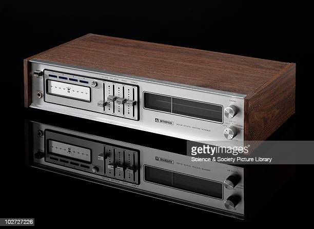 Amerex solid state 8track tape player 1974 Amerex solid state 8track tape player and two speakers model AC301D Made of wood metals and plastics