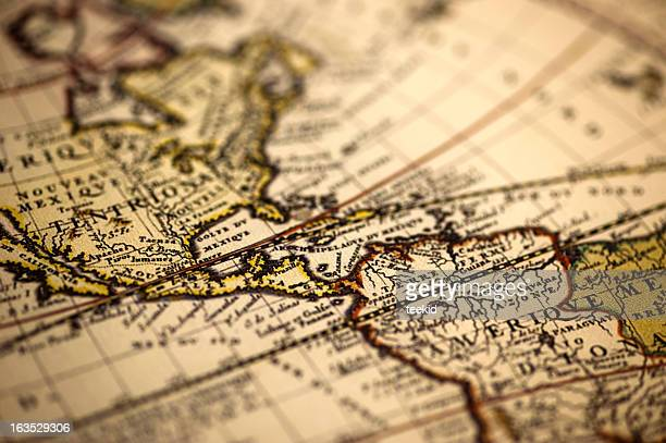 america ancient world map - vintage world map stock photos and pictures