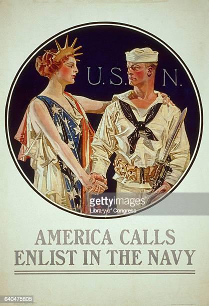 America Calls Recruitment Poster by Joseph Christian Leyendecker