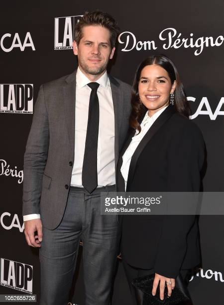 America Ferrara and Ryan Piers Williams attend the LA Dance Project's Annual Gala at Hauser Wirth on October 20 2018 in Los Angeles California