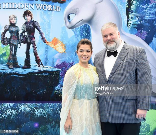 America Ferrera and director Dean DeBlois arrive at Universal Pictures And DreamWorks Animation Premiere Of How To Train Your Dragon The Hidden World...