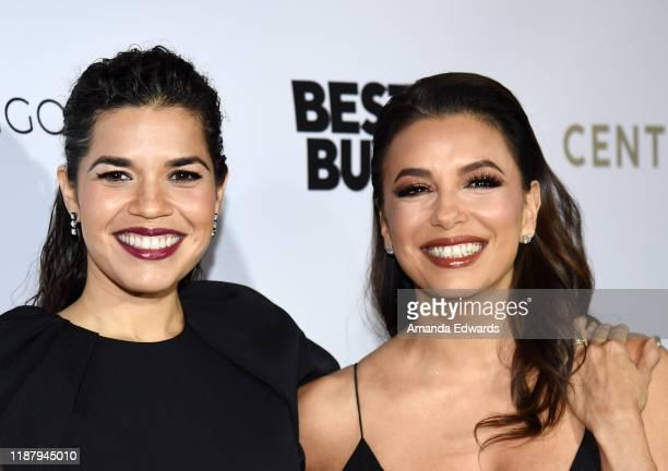 America Ferrera and Eva Longoria arrive at The Eva Longoria Foundation Gala at the Four Seasons Los Angeles at Beverly Hills on November 15, 2019 in...