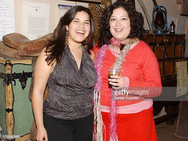 """America Ferrera and Georgina Garcia Reidel during 2005 Park City - """"How the Garcia Girls Spent Their Summer"""" Party at Levi's Ranch in Park City,..."""