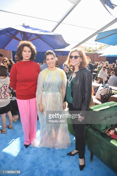 America Ferrera and Marjorie Cohn attend Universal Pictures and DreamWorks Animation premiere of How To Train Your Dragon The Hidden World at Regency...