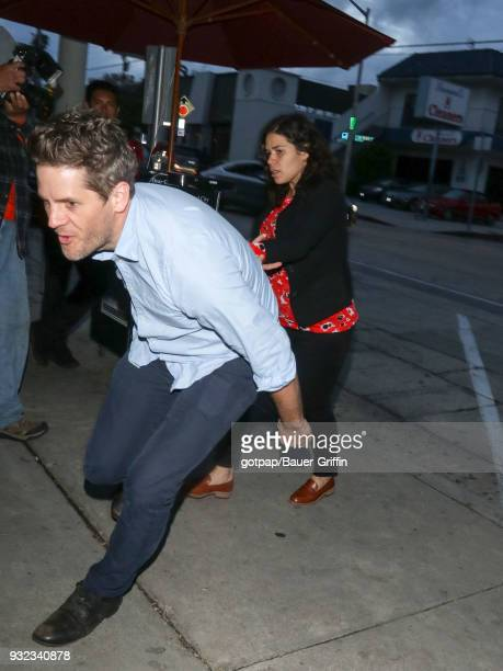 America Ferrera and Ryan Piers Williams are seen on March 14 2018 in Los Angeles California